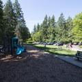 Lower playground in Whatcom Falls Park.- Whatcom Falls Park