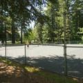 Tennis courts at Whatcom Falls Park.- Whatcom Falls Park