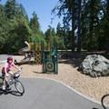 Upper playground at Whatcom Falls Park.- Whatcom Falls Park