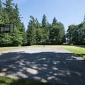 Basketball court and multi-purpose field at Whatcom Falls Park.- Whatcom Falls Park