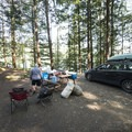Typical campsite at Hicks Lake Campground.- Hicks Lake Campground