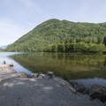 Deer Lake at Lakeside Campground.- Lakeside (Deer Lake) Campground
