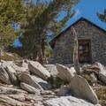 Stone hut just below the summit of Mount San Jacinto.- San Jacinto Peak via Marion Mountain Trail