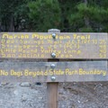 Hiking distances along the Marion Mountain Trail.- San Jacinto Peak via Marion Mountain Trail