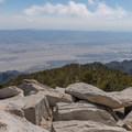 Summit view from Mount San Jacinto.- San Jacinto Peak via Marion Mountain Trail