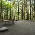 Typical campsite at Bench Campground.- Bench Campground