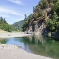A placid South Fork Eel River downstream from the main swimming hole.- Standish-Hickey SRA Swimming Hole