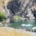 A nice beach provides room for relaxing.- Standish-Hickey SRA Swimming Hole