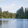 Boulder Beach is along the Spokane River.- Spokane River, Boulder Beach