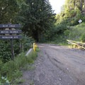 Bear Creek Recreation Site sign along Harrison East Forest Service Road.- Bear Creek Recreation Site Campground