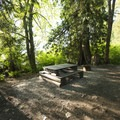 Typical campsite at Bear Creek Recreation Site Campground.- Bear Creek Recreation Site Campground