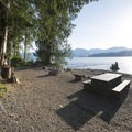 Waterfront campsite at Bear Creek Recreation Site Campground.- Bear Creek Recreation Site Campground