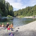 South Fork of the Eel River provides excellent swimming opportunities in Richardson Grove State Park.- Richardson Grove Swimming Hole