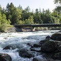 Chilliwack River at Tamihi Creek East Recreation Site Campground.- Tamihi Creek East Recreation Site Campground
