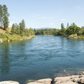 The Spokane River from the swimming hole at Mirabeau Park.- Mirabeau Park Swimming Hole