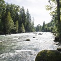 Tamihi Rapids along the Chilliwack River.- Tamihi Rapids Recreation Site Campground