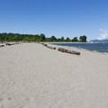 Wide, sandy beach.- Jericho Park