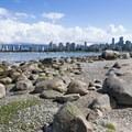View northeast toward Vancouver.- Kitsilano Beach