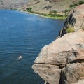 Swimming in the Snake River off of Granite Point.- Granite Point