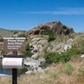 Garbage bags are provided for visitors to Granite Point. Use them!- Granite Point