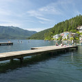 Swimming docks at Cultus Lake Park and Main Beach.- Cultus Lake Park + Main Beach