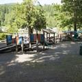 Playground at Cultus Lake Park and Main Beach.- Cultus Lake Park + Main Beach