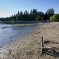 Low tide at Second Beach.- Second Beach