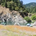 Swimming hole near Redwood Campground.- Redwood Campground