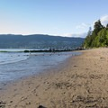 View north toward West Vancouver.- Third Beach