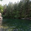 Gold Creek has many deep spots for swimming.- North Beach Trail