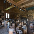 Cooperage, used for barrel building to ship all of the fort's goods.- Fort Langley National Historic Site