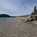 Small area for swimming.- Kukutali Preserve (Kiket Island)