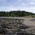 View from the tide pools to the beach entrance.- Rosario Beach, Deception Pass State Park