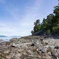 View north toward Cypress Island.- West Beach