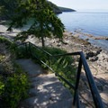 Stairs leading to the beach.- West Beach