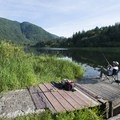 Angler on Trout Lake, Sasquatch Provincial Park.- Sasquatch Provincial Park