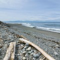 Looking south toward the Olympic Peninsula.- Libbey Beach