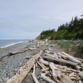View north toward the San Juan Islands.- Libbey Beach