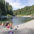 Summertime swimming holes in Richardson Grove State Park.- Richardson Grove State Park