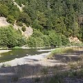 South Fork of the Eel River near Huckleberry Campground.- Huckleberry Campground