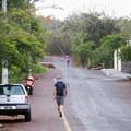 Following Charles Binford street to the Tortuga Bay entrance.- Tortuga Bay