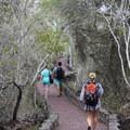 Leaving Tortuga Bay on the cobblestone trail.- Tortuga Bay