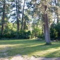 A large group campsite.- Lewis and Clark Trail State Park Campground