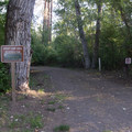 The entrance to one of two large group campsites at Lewis and Clark Trail State Park Campground.- Lewis and Clark Trail State Park Campground