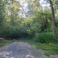 A typical campsite in Lewis and Clark Trail State Park Campground.- Lewis and Clark Trail State Park Campground