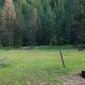 The tent camping area at Beauty Creek Campground.- Beauty Creek Campground
