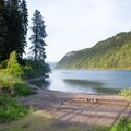Views of Lake Pend Oreille at Buttonhook Bay.- Beaver Bay Shoreline Trail