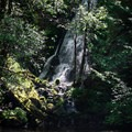 These falls are created by Misery Creek.- Whispering Falls Swimming Holes