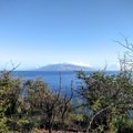 View of Kaho'olawe, the smallest Hawaiian island.- Pu'u Ola'i / Red Hill