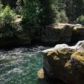 North Santiam, Idanha.- Snyder Bridge Swimming Hole, Idanha